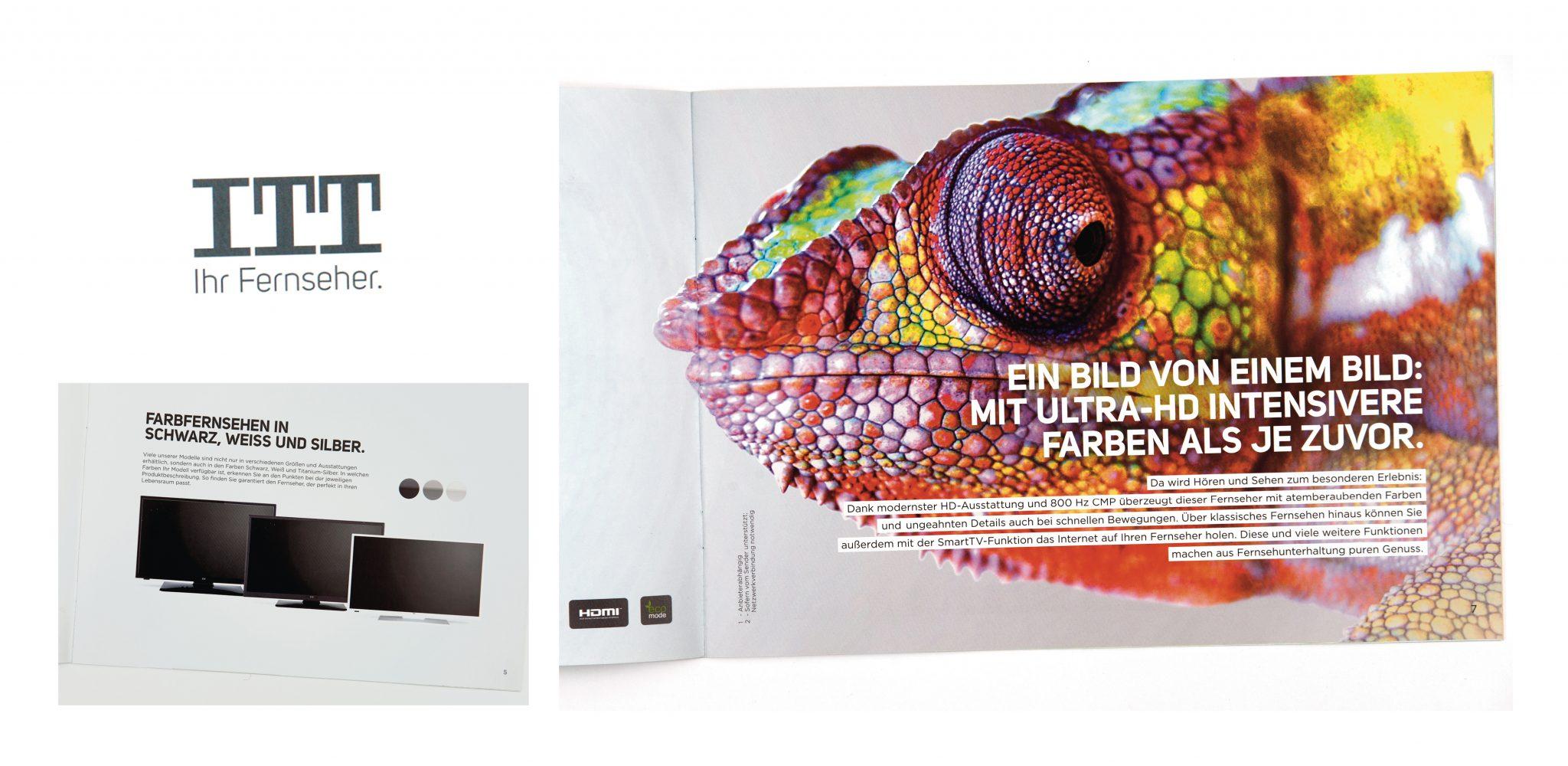 Konzept und Text für einen Produktkatalog für Fernseher